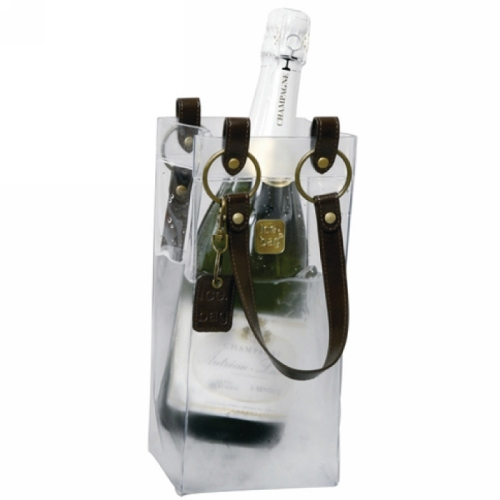 Champagnekoeler of wijnkoeler Icebag Design Collection Leather like Choco